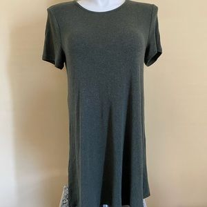 Madewell Olive Green Ribbed Dress